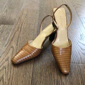 Ann Taylor Tan Slingback Heels